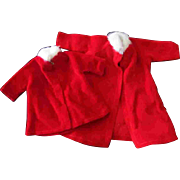 Tammy Pepper Doll Clone Mommy Made Clothes Red Cloth Coats