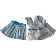 Tammy Pepper Fashion Doll Clone Mommy Made Clothe Blue White Skirt Blouse