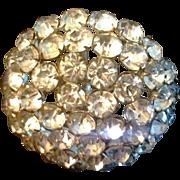 "REDUCED 9"" Antique Hat Pin Clear Rhinestones Large Brilliant"