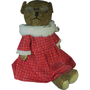 Antique Mohair Teddy Bear with Small Glass Eyes