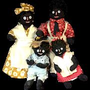 SALE Rachael Smith Marlatte Black American Cloth Doll Family Dolls 1960s Dinah Sam Boy Girl