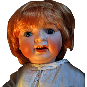 """13.5"""" Morimura Brothers Bisque Head Baby Doll Japan Nippon"""