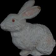 Vintage White Papier Mache Easter Bunny Rabbit