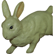 """4.5"""" Celluloid White Easter Bunny Rabbit"""