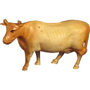 "3"" Antique Celluloid Toy Cow"