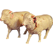 Pair Vintage Celluloid Ram Sheep