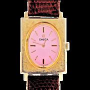 Ladies Rectangular Omega watch © 1950