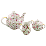 SALE Lefton Rose Chintz Tea Set