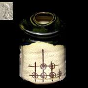 Japanese Vintage Oribe Ware Hanging Vase by First Class potter Kegeto Kato