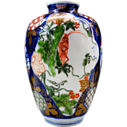 A Rare Antique Imari Vase in Koransha Style by the Great 青 Aoki Family Kiln