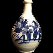Old Japanese Vintage Large Imari 伊万里  Porcelain Rakyou Style Sake Bottle with Peony and
