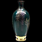 Japanese Antique Rare Style Miniature Cloisonne  Wisteria Vase