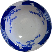 Japanese Antique Fine Fukagawa (深川)  Blue and White Porcelain Bowl