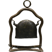 Japanese Antique 1880's Copper and Iron Bronze Hanging Temple Bell, Bonshō 梵鐘 and ...