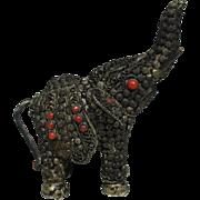SALE Vintage Tibetan Copper Ware Elephant Ornament or Small Statue