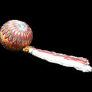 SALE Japanese VIntage Folk Art Toy Temari Ball  手まり New Tear Tradition