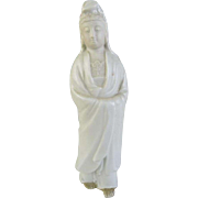Japanese Izushi-ware 出石焼 Porcelain Okimono, Ornament or Statue of Kannon by First Class