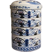 A Fine and Tall Japanese Antique 19th Century Imari 伊万里焼 Porcelain Jubako or Multi ...