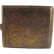 Dragon Art Mixed Metal Cigarette Case in Japanese- Chinese Style, Made in France
