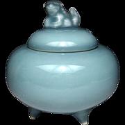 Japanese Vintage  鍋島  Nabeshima ware Celadon Porcelain Koro/ Incense Burner