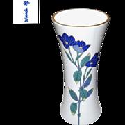 Beautiful and Tall  Koransha Porcelain Vase of Japanese BellFlowers