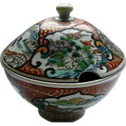 Japanese Antique Rare  Porcelain Tureen by Hichozan Shinpo sei  肥碟山信甫製 Porcelain .