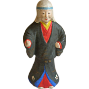 SALE Japanese Tsuchi-Ningyo 土人形  or Folk Art Clay Doll of Yūrei 幽霊 the Samurai ...