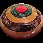 A Rare Japanese Vintage  Lacquered Wood Kogo or Incense Holder