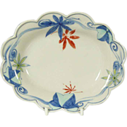 Japanese Vintage Porcelain Nabeshima Transferware Footed Plate
