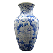 Japanese Antique Seto Ware 瀬戸 Porcelain Blue and White Vase