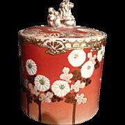 Japanese Antique Awata 粟田 Kyo-yaki 京焼き Kinkozan 錦光山 Stoneware Mizusashi or Col