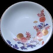 Japanese Vintage Fukagawa 深川 Porcelain Dish with Design of Kiku Design or Chrysanthemum