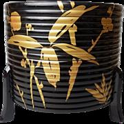 SALE Japanese Vintage Lacquered Wood and Gold Maki-e 蒔絵 Kashiki or Kaioke Box