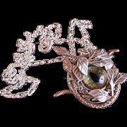 Gothic Necklace Serpent Necklace Snake Eye Necklace Mens Snake Pendant Unisex Snake Eye