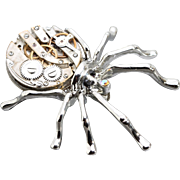 SOLD Spider Brooch Steampunk Brooch Spider Pin