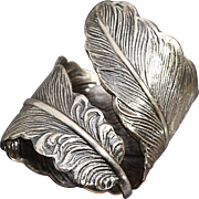 Silver Feather Ring Unisex Ring Thumb Ring Boho Feather