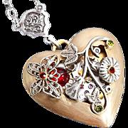 Steampunk Heart Steampunk Heart Necklace Steampunk Necklace