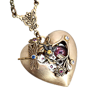 Heart Necklace Steampunk Heart Necklace Steampunk Necklace