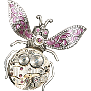 Steampunk Pin Bug Pin Lapel Pin Tie Tack