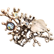 Beach Ring Stingray Ring Coral Ring Coral Branch Coral Reef Opal Ring