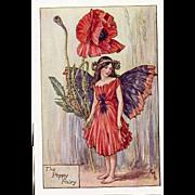Flower Fairy Print - Poppy Fairy, 1930s
