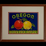 1940s Apple Crate Label, Framed