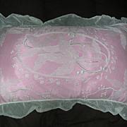 Exquisite Tambour Net Lace Boudoir Pillow with Insert