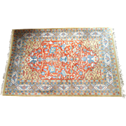 REDUCED Vintage Indian Agra Rug, 6' x 9'