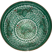 SALE Mammoth Chinese Emerald Green Dragon Bowl