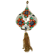 Vintage Exotic Park Lane Enameled Convertible Brooch Pendant**S A L E