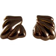 SALE Melecio Rodriguez Taxco Sterling Silver clip on earrings