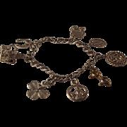 SALE Sterling Silver Charm(7 ) Bracelet