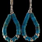 SALE Sterling Silver Turquoise Earrings