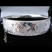 SALE 67 Georg Jensen London Heavy Solid Sterling Silver Bangle Bracelet